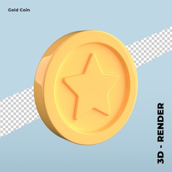 Cartoon gold coin icon isolated