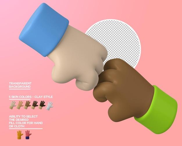 Мультфильм руки кулак удар жест