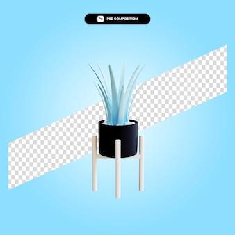 Мультяшный завод 3d визуализации изолированных иллюстрация