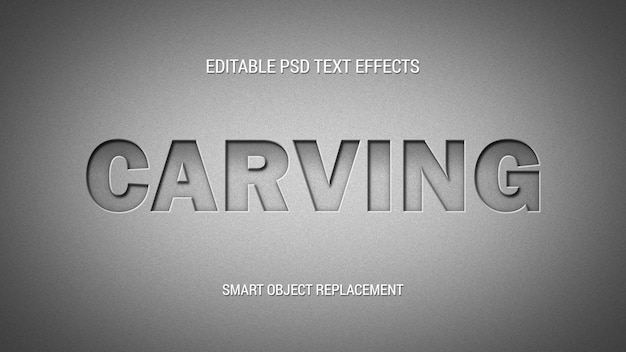 Carved editable text effect
