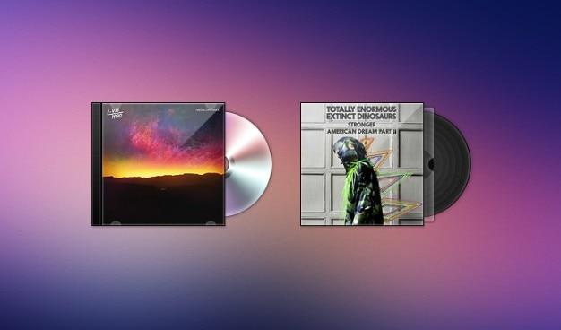 Case cd covers freebie psd vinyl