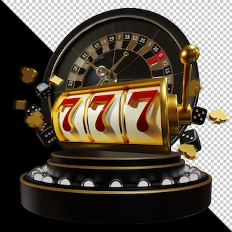 Casino 3d element composition  isolated