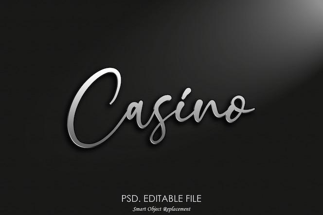 Казино 3d логотип макет