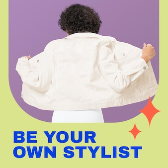 ソーシャルメディアの投稿のためのカジュアルな女性のファッションテンプレートpsd