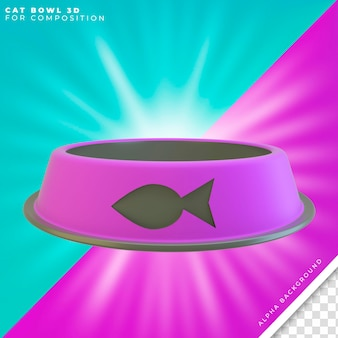 Cat bowl for food 3d
