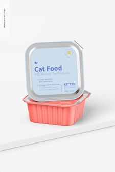 표면에 고양이 먹이 모형