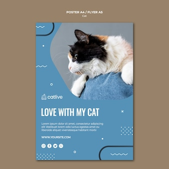 Cat lover concept poster style