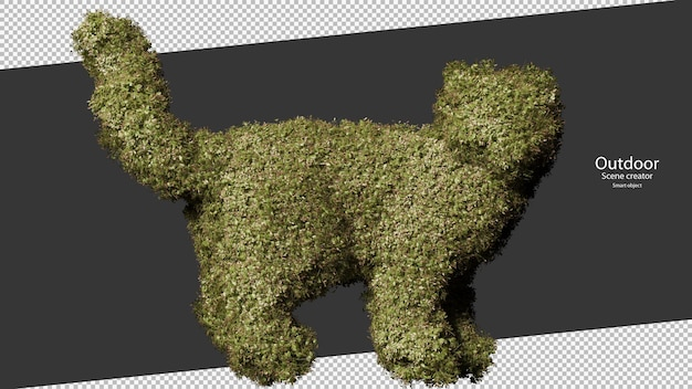 猫の形をした庭の生垣