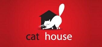 Cat vector logo design