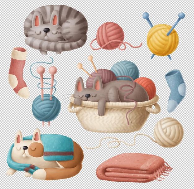 Коллекция для кошек и вязания