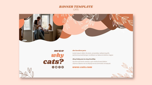 Cats banner template