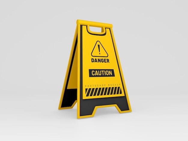 Caution board mockup