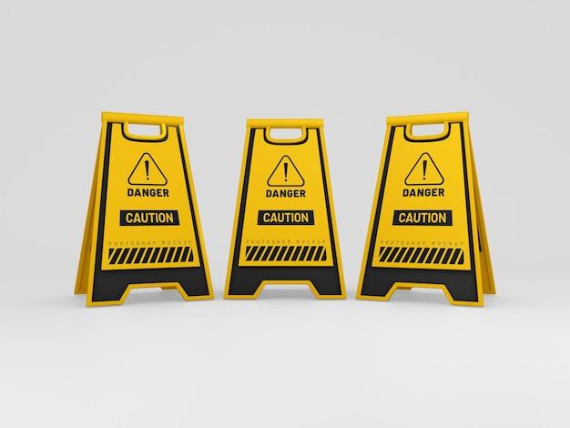 Caution boards mockup