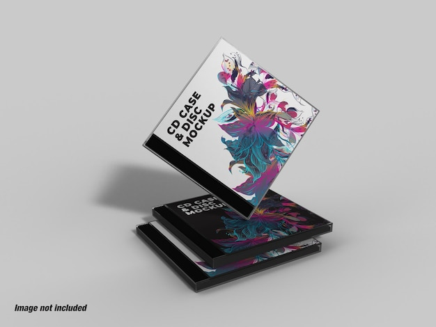 Cd case and disc mockup