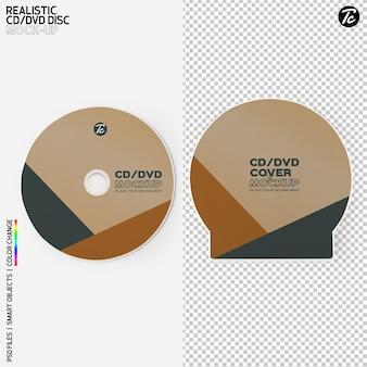 Изолированный дизайн макета крышки cd диска и коробки cd