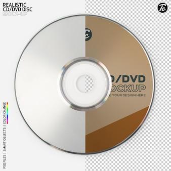 Изолированный дизайн макета cd-диска Premium Psd