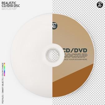 Изолированный дизайн макета cd-диска