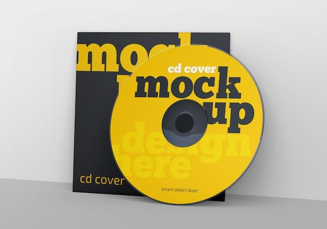 cd / dvdカバーモックアップ