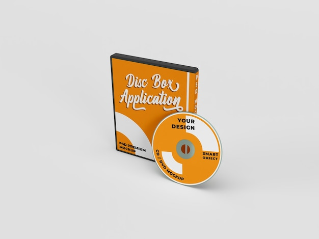 Cd dvd and disc cover package realistic mockup
