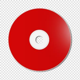 赤いcd-分離されたdvdモックアップ