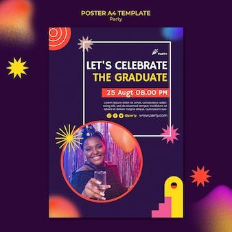 졸업 포스터 템플릿을 축하합니다