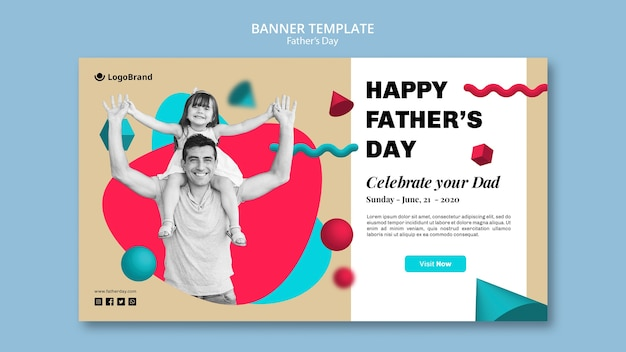 Celebrate your dad father's day banner template