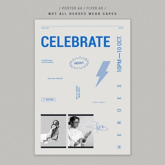 Celebrating doctors poster template