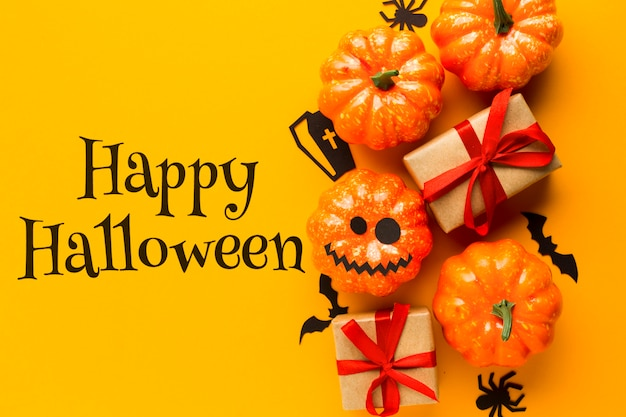 Celebration of halloween day trick or treat