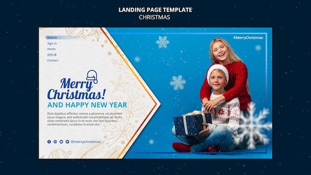 Celebrational christmas landing page template