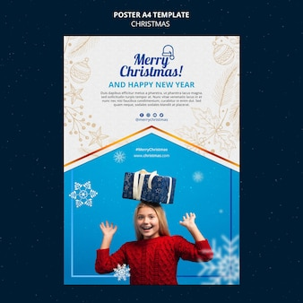 Celebrational christmas print template
