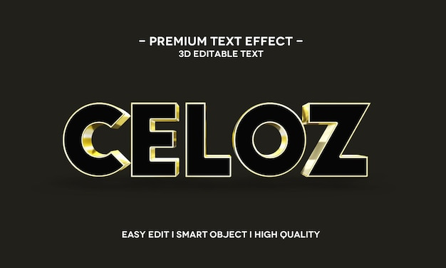 Celoz 3d text style effect template