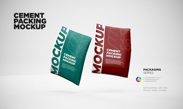 Cement or flour packaging mockup