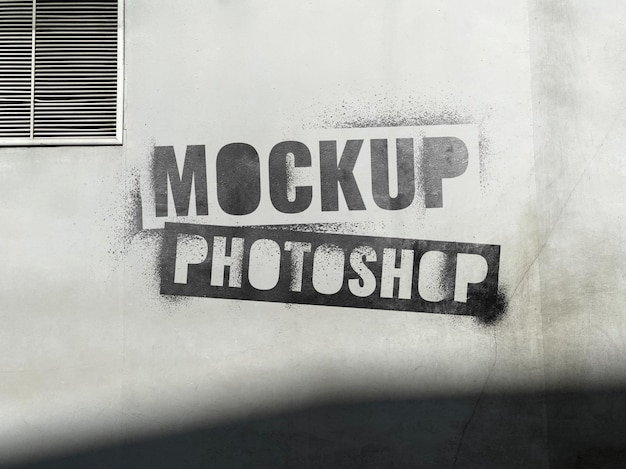 Макет логотипа на цементной стене