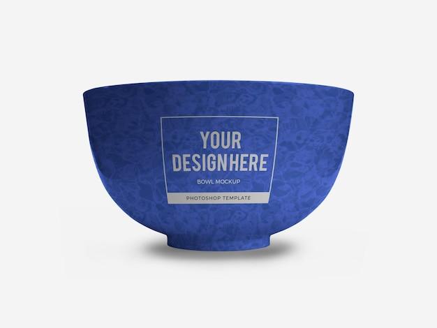 Ceramic bowl mockup isolated