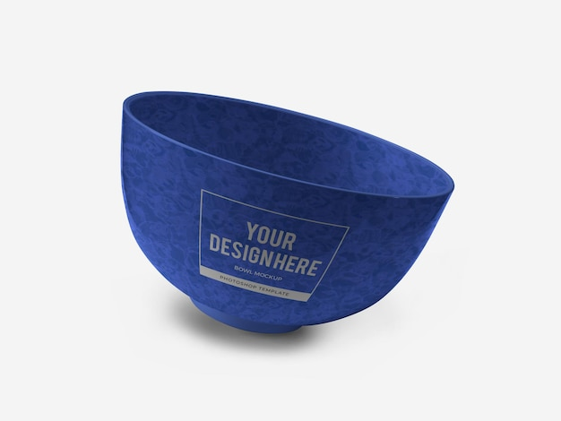 Ceramic bowl mockup template isolated