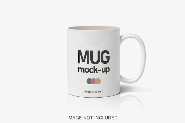Ceramic coffee mug mockup isolated