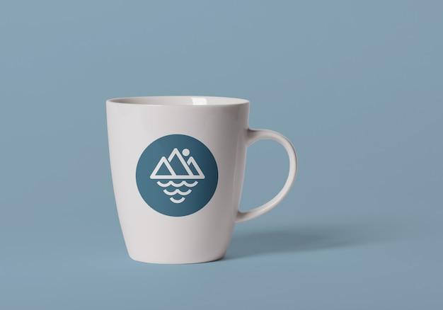 Макет дизайна логотипа керамической чашки