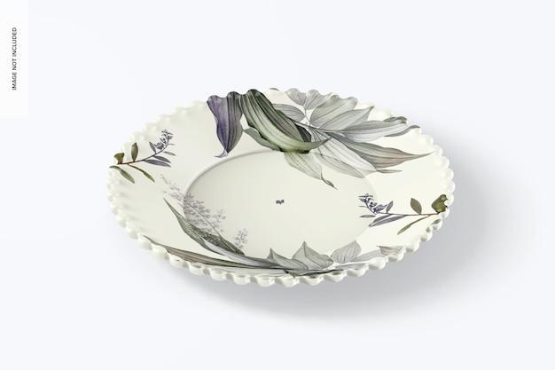 Керамическая тарелка для десерта, мокап
