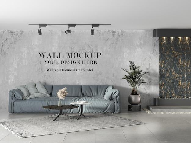 Ceramic floor tile room wall mockup design