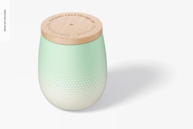 Ceramic food storage jar mockup