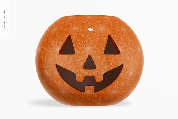 Mockup di zucca di halloween in ceramica