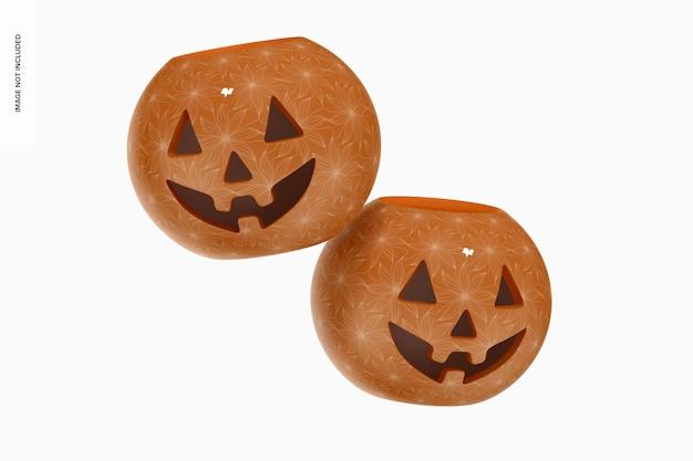 Керамический макет тыквы на хэллоуин, плавающий