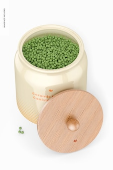 Керамический кухонный макет канистры, вид сверху
