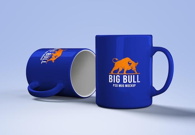 Ceramic mug mockup logo design
