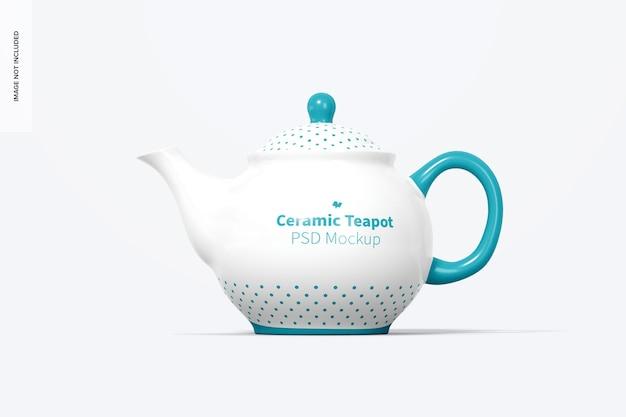 Керамический чайник мокап