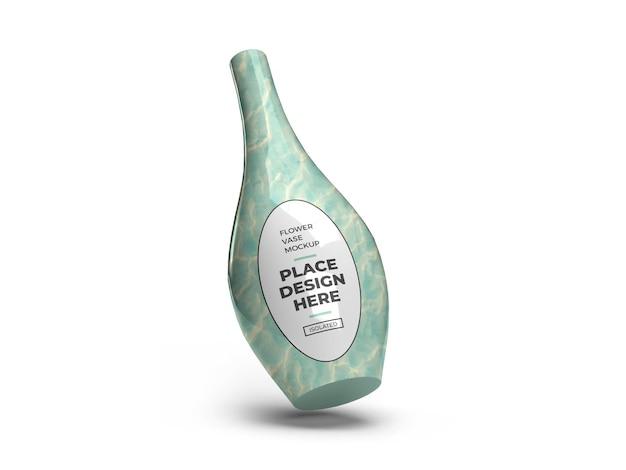 Ceramic vase 3d mockup design