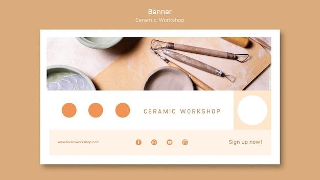 Ceramic workshop banner