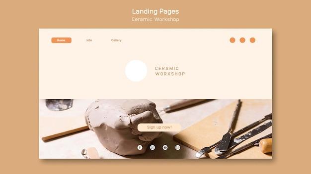 Ceramic workshop landing page template