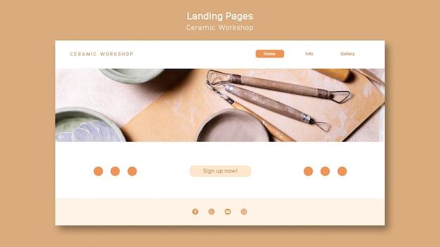 Ceramic workshop landing page
