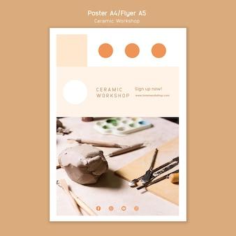 Ceramic workshop poster concept